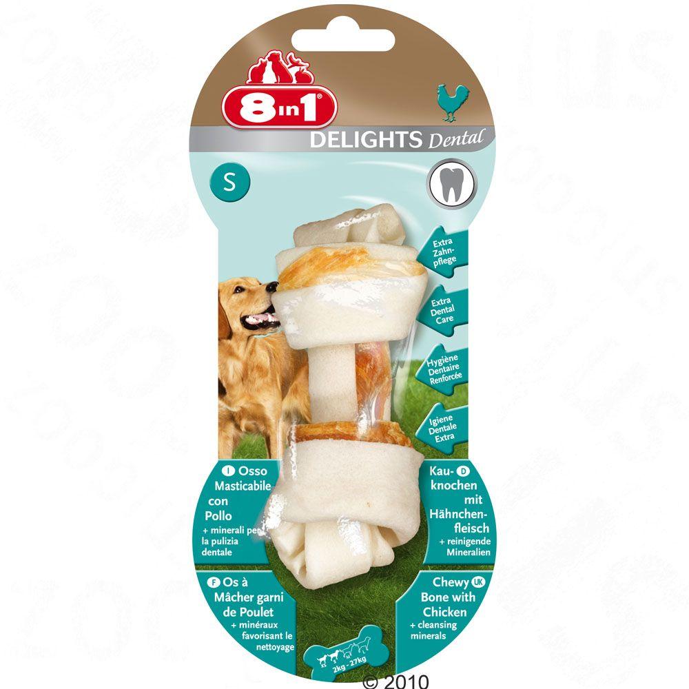 8in1 Delights Dental kość do żucia drobiowo-wołowa - L, 100 g
