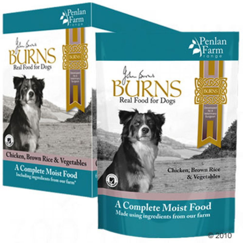 24x100g Chicken, Brown Rice & Vegetables Burns Penlan Farm Wet Dog Food