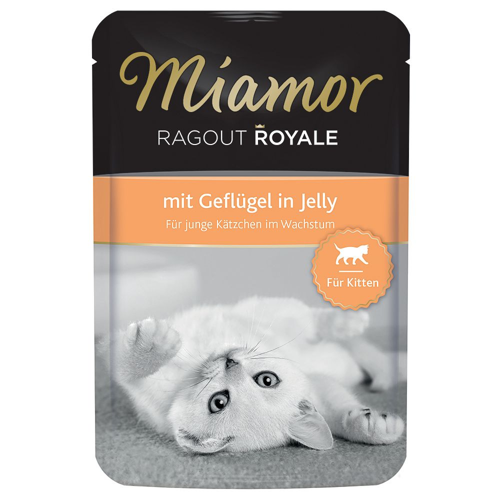 Miamor Ragout Royale Kitten in Jelly 22 x 100g - With Poultry