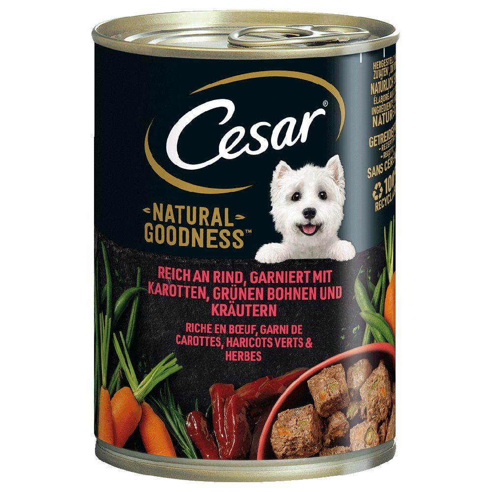 6x400g Natural goodness lam Cesar hund vådfoder