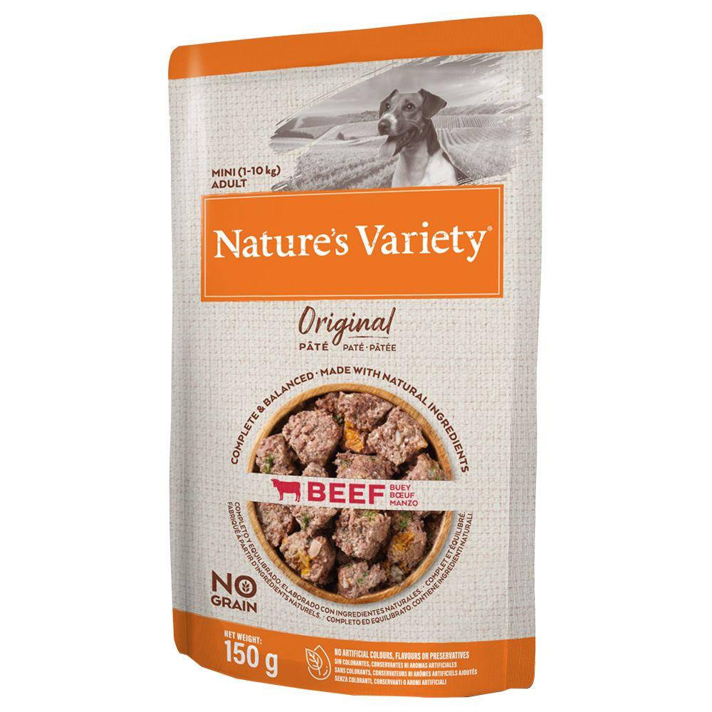 8x150g Original Paté No Grain Mini Kylling Nature's Variety hundesnack
