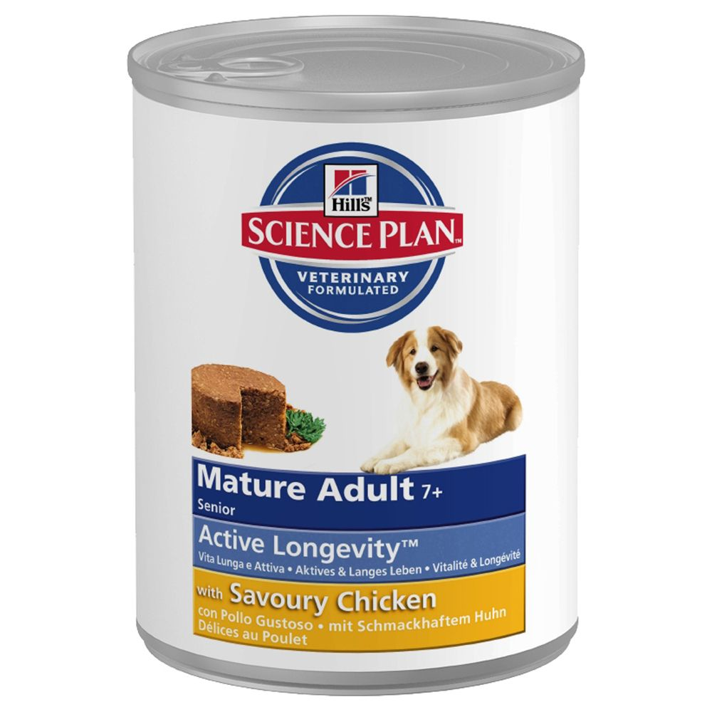 Hill's Science Plan Mature 7+ Active Longevity - Chicken - Saver Pack: 12 x 370g