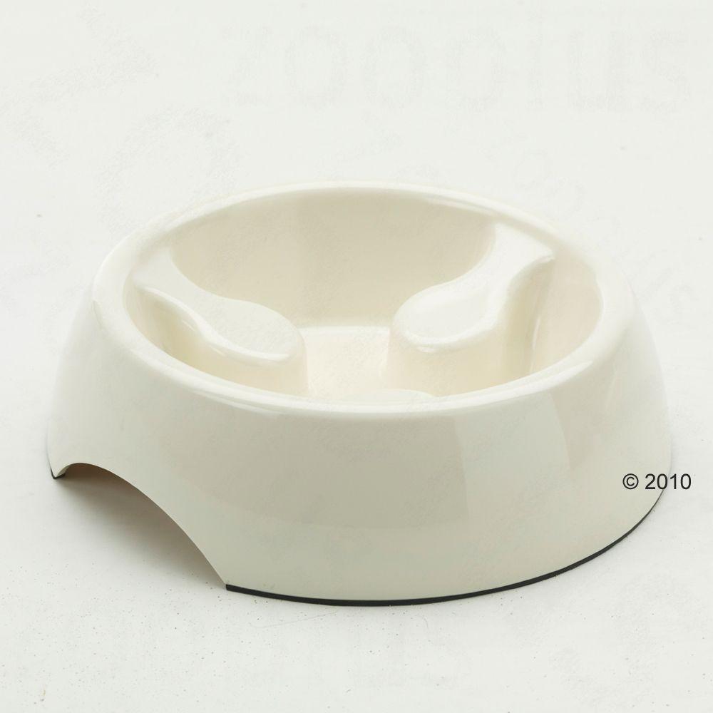 Gamelle anti-glouton Savic 0,4 L pour chat - ivoire