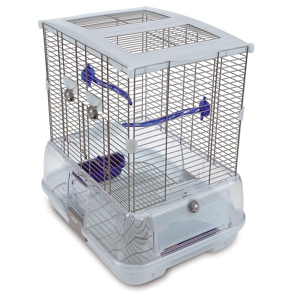 Hagen Vision Bird Cage for Small Birds (S01) - White: 45.5 x 35.5 x 51 cm (L x W x H)
