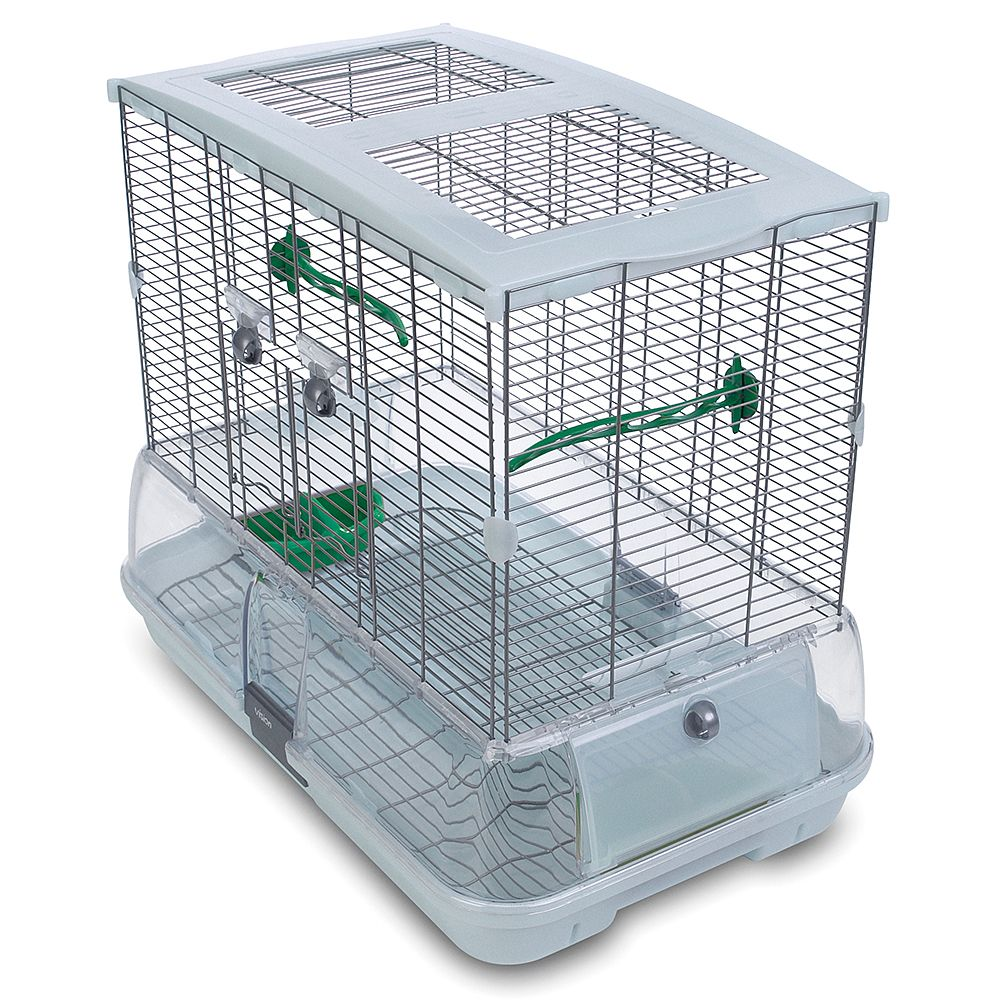 Hagen Vision Bird Cage for Medium Birds (M01) - White: 61 x 38 x 52 cm (L x W x H)