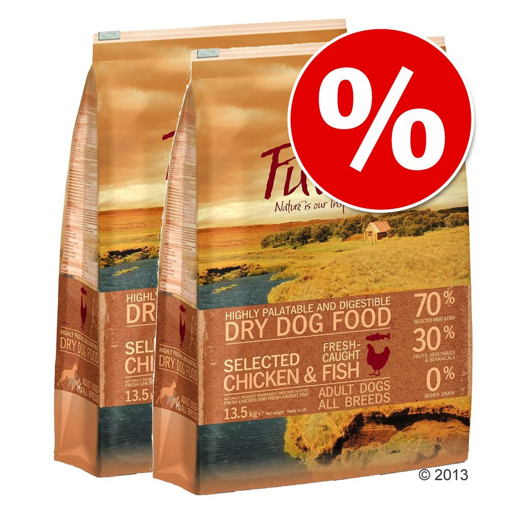 Ekonomipack: Purizon hundfoder 2 x 12 kg - Senior Chicken & Fish (2 x 12 kg)