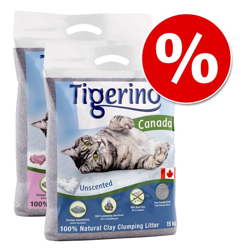 Żwirek miesiąca: Tigerino Canada, 2 x 15 kg w super cenie! - Nieperfumowany