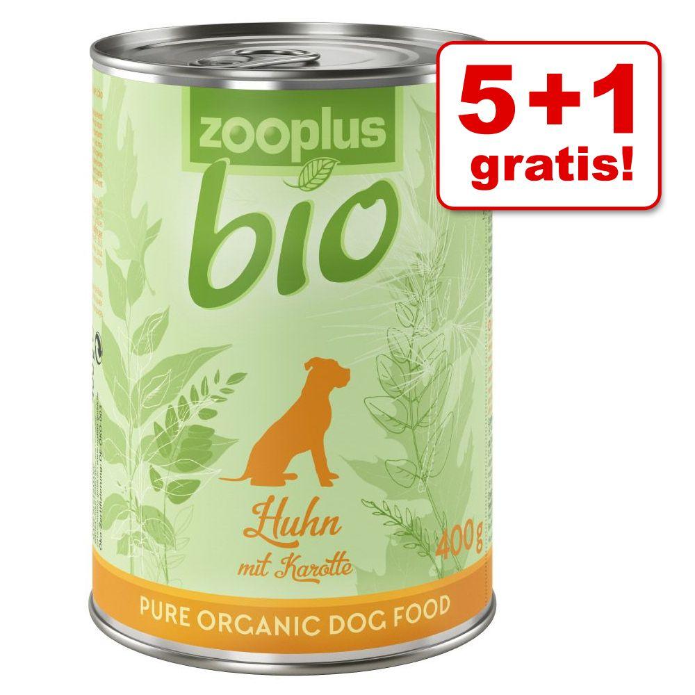 5 + 1 gratis! 6 x 400g zooplus Bio  - Bio-Rind 6 x 400 g