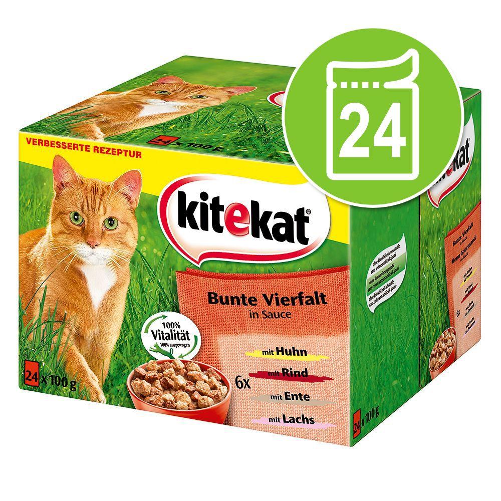 Kitekat Frischebeutel 24 x 100 g - Markt-Mix in...