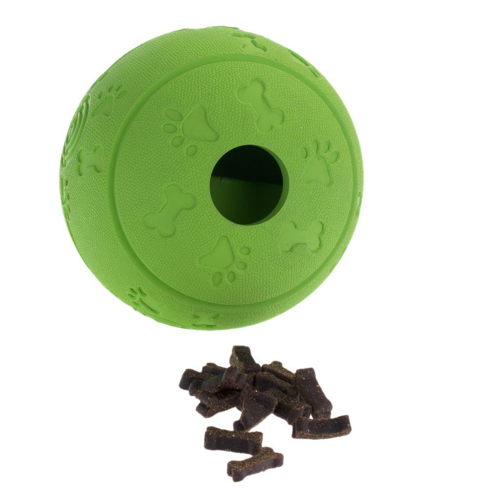 Image of Hundespielzeug Snackball - passender Snack: Rinti Bitties Huhn m. Karotte & Spinat 100 g