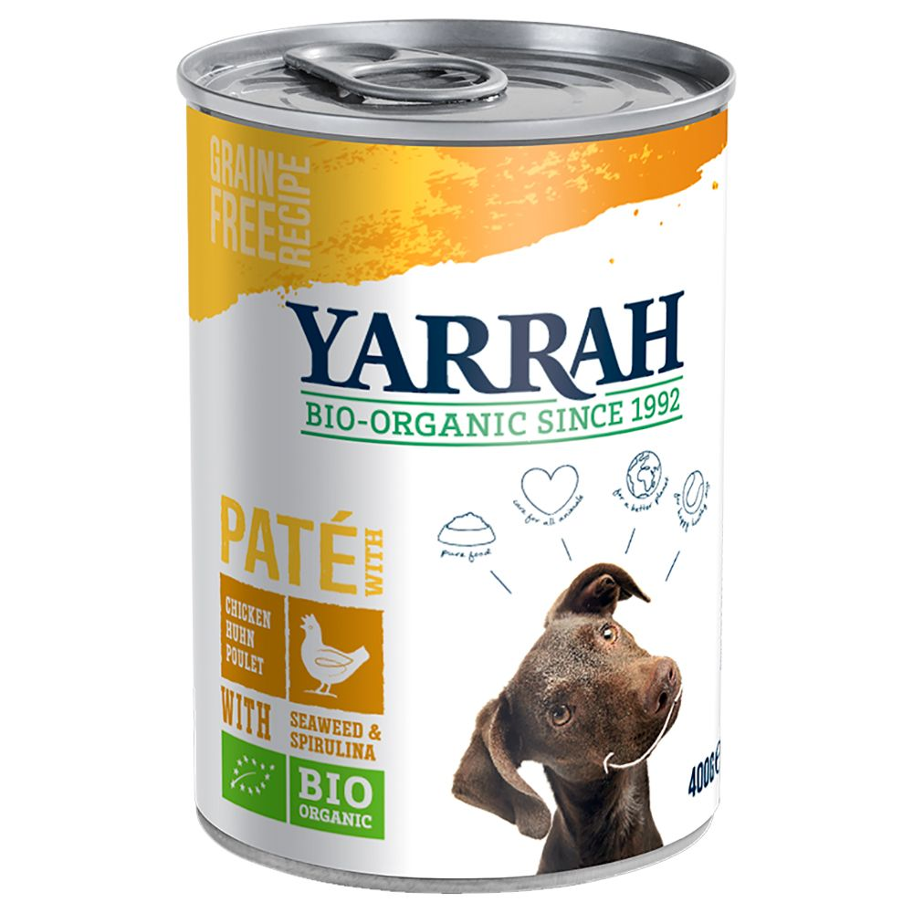 Chicken with Spirulina & Seaweed in Sauce Pat? Yarrah Organic Wet Dog Food