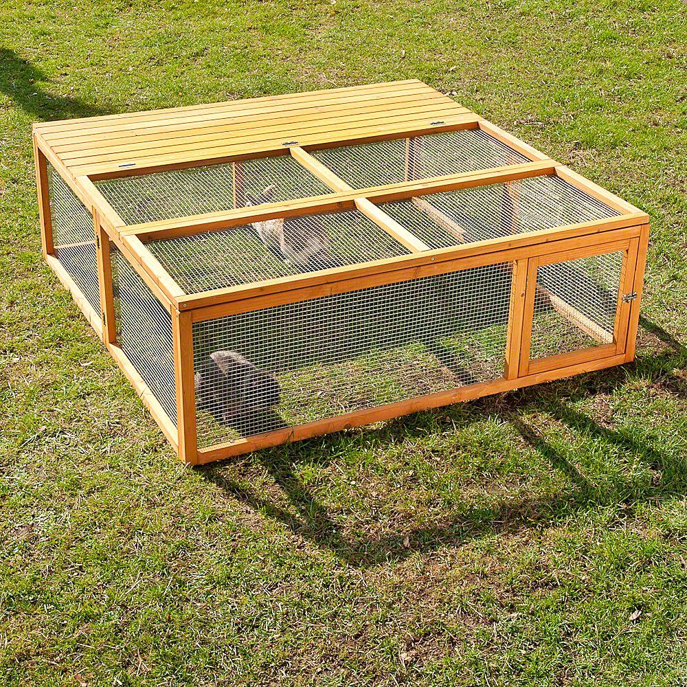 Enclos Outback Springtime grand modèle pour rongeur et lapin - enclos avec protection : L 150 x l 15