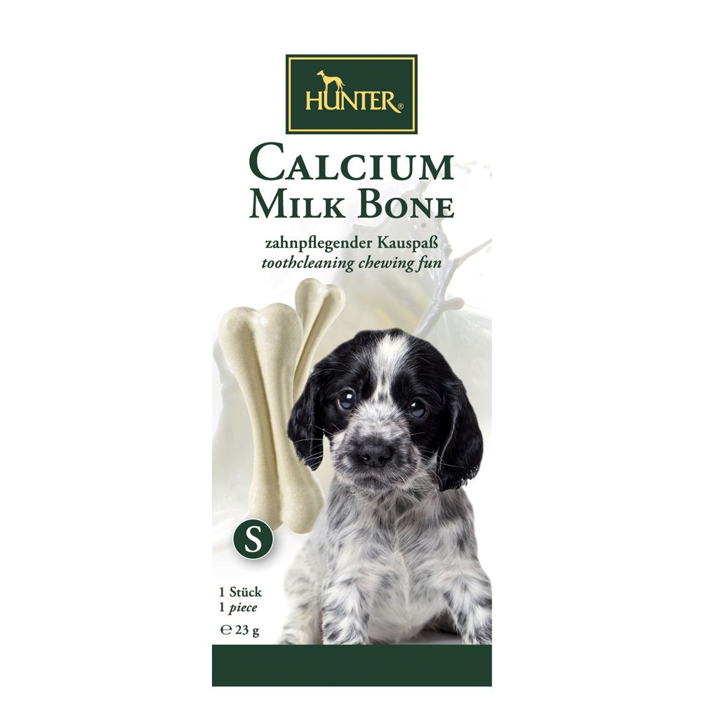 Hunter Calcium Milk Bone, os à mâcher pour chien - 1 os de 23 g
