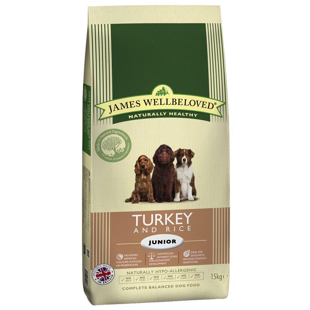 James Wellbeloved Junior Pavo y arroz - 2 x 15 kg - Pack Ahorro