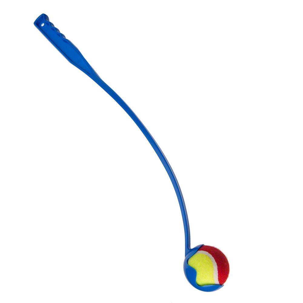 Tennis Ball Launcher hundleksak - Passande bollar: 3-pack Kong Squeakair tennisbollar