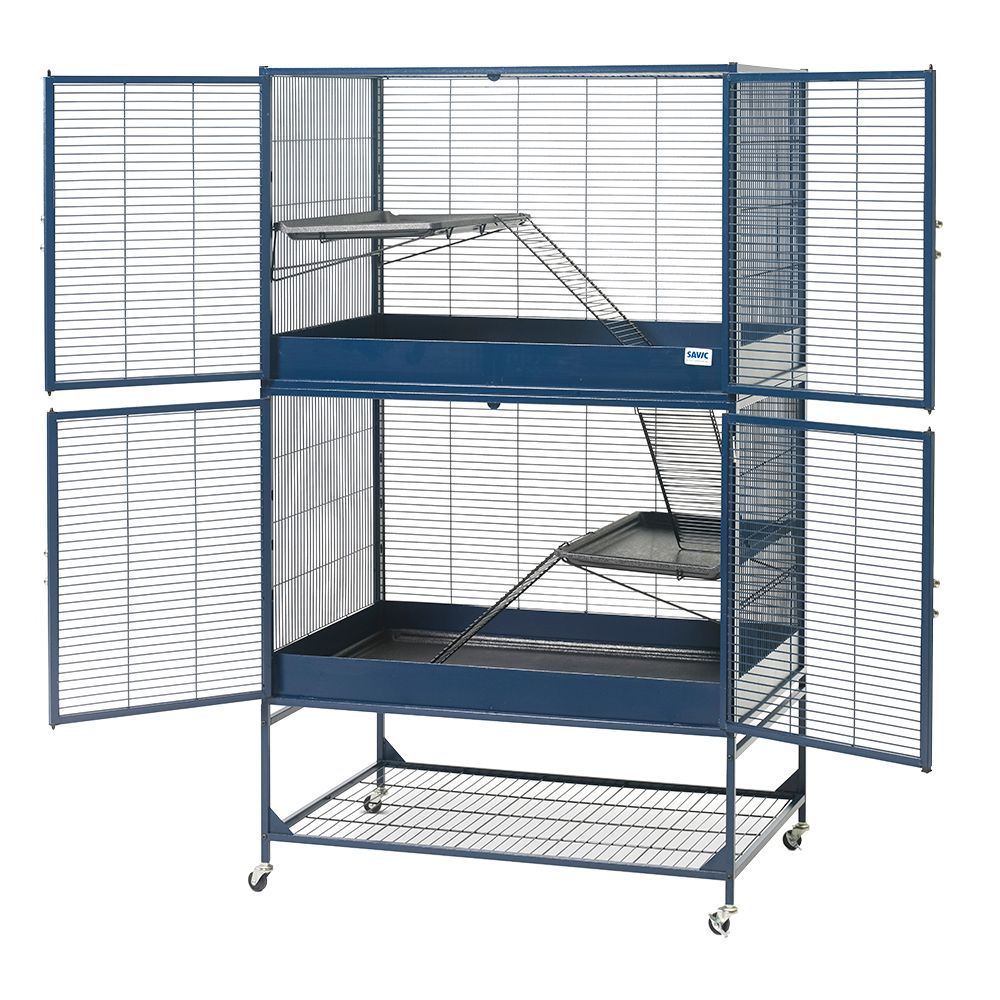 Savic Rat & Ferret Cage Royal Suite 95 Dark Blue: 95 x 63 x 159 cm (L x W x H)