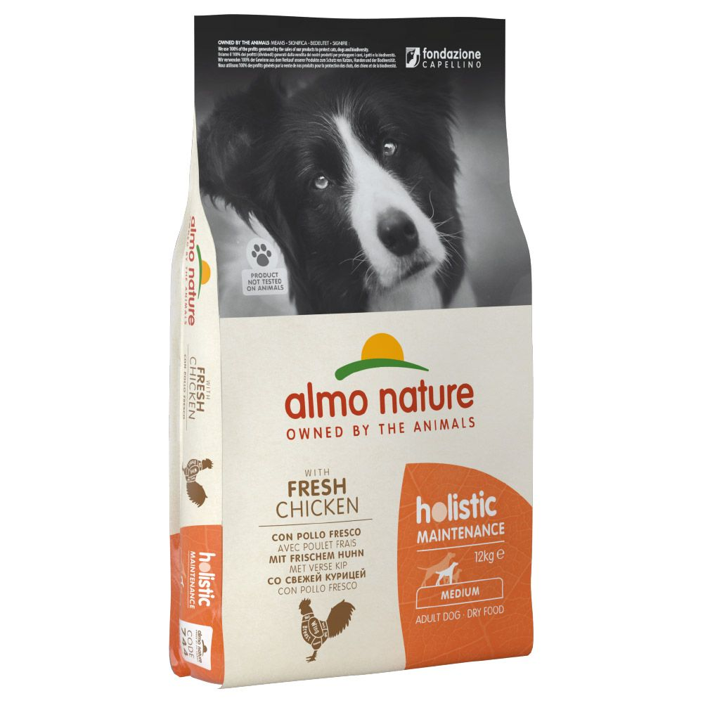Almo Nature Holistic Dog Food - Medium Adult Beef & Rice