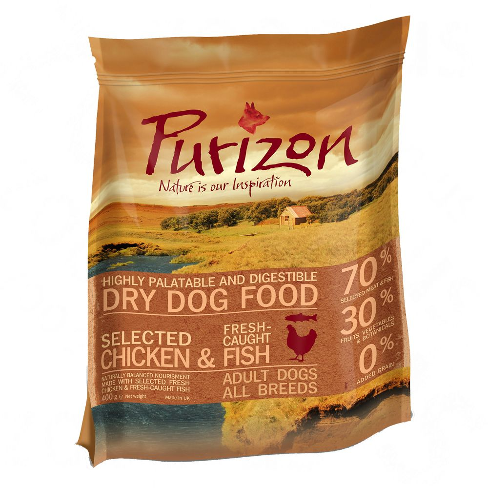 2 x 400g Purizon Dry Food - £5 Trial Pack!* - Adult Lamb & Salmon (2 x 400g)