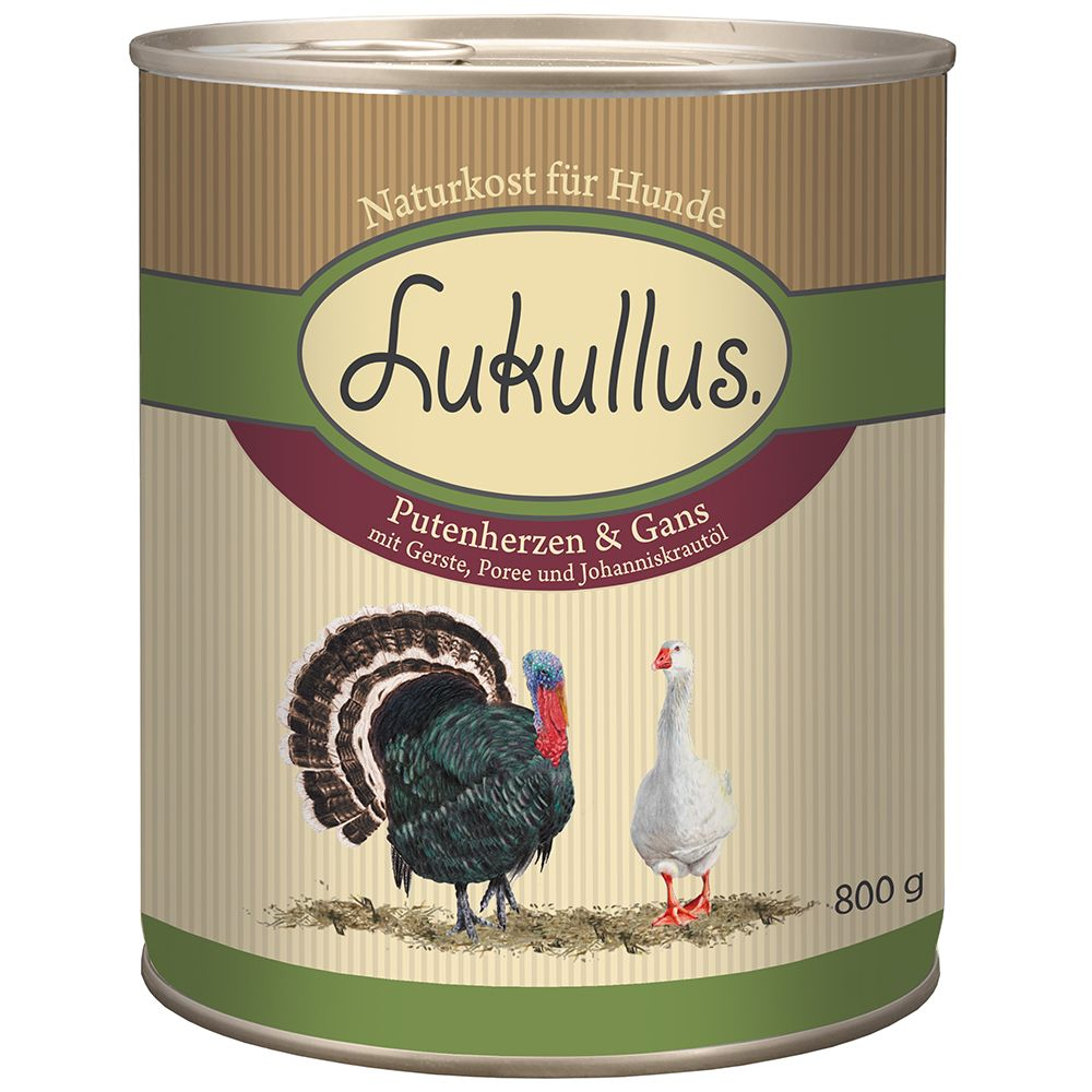 Lukullus Goose & Turkey Heart - 6 x 800g