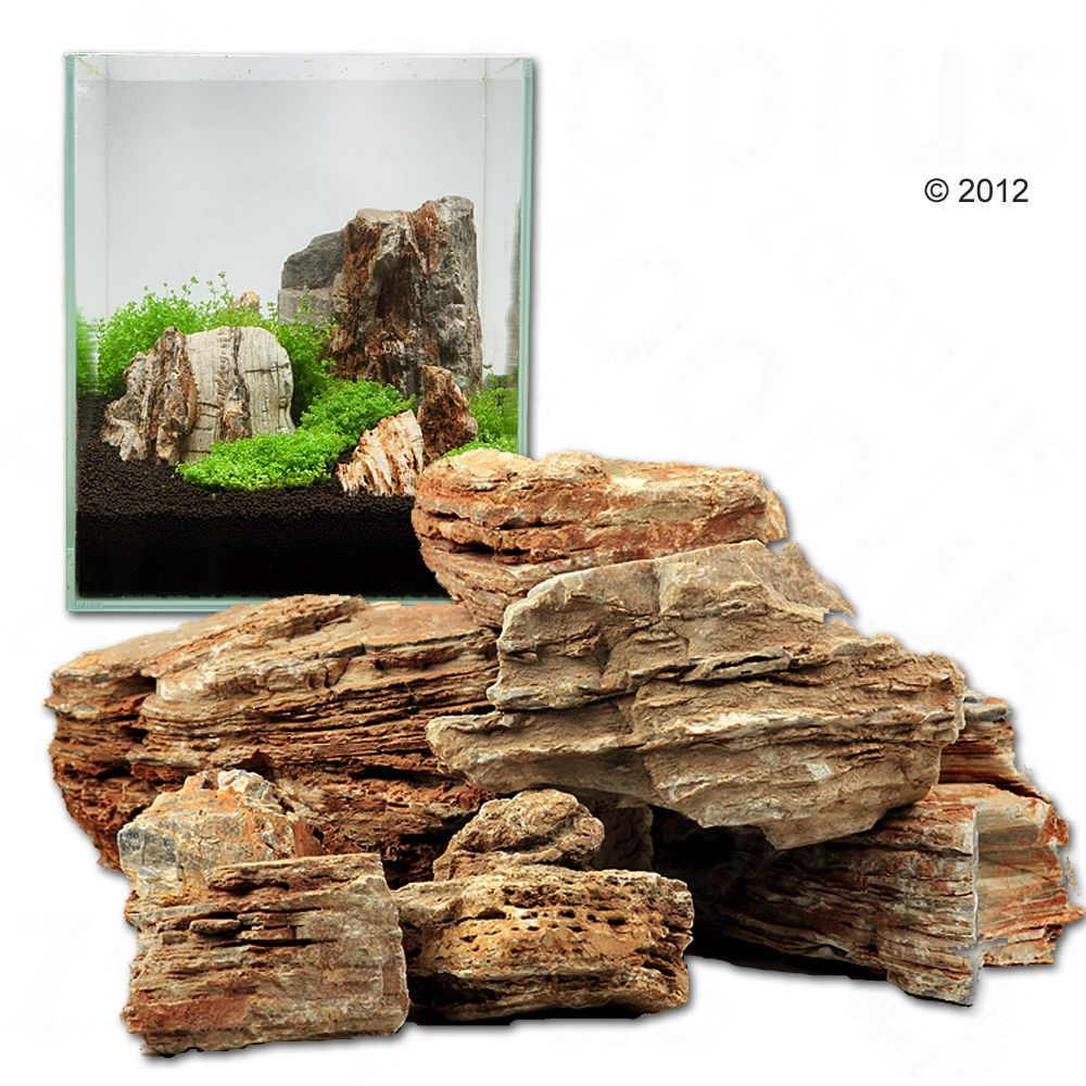 Pierres pagode claires pour aquarium Canyon Rock - kit 60 cm : 9 pierres naturelles, 6 kg environ