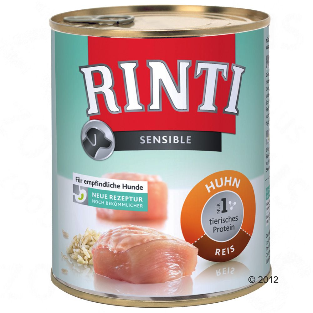 RINTI Sensible 6 x 800 g - Kyckling & ris