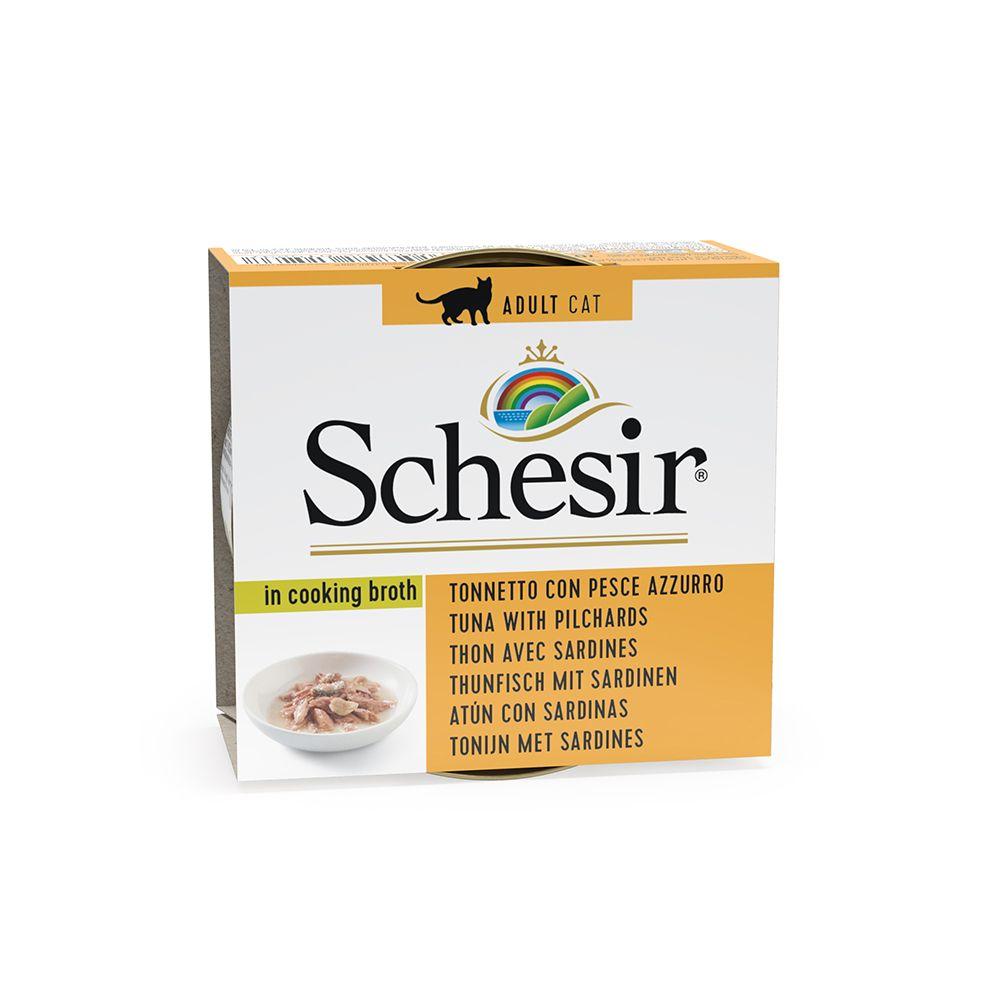 Schesir in Brühe 6 x 70 g - Thunfisch mit Sardinen