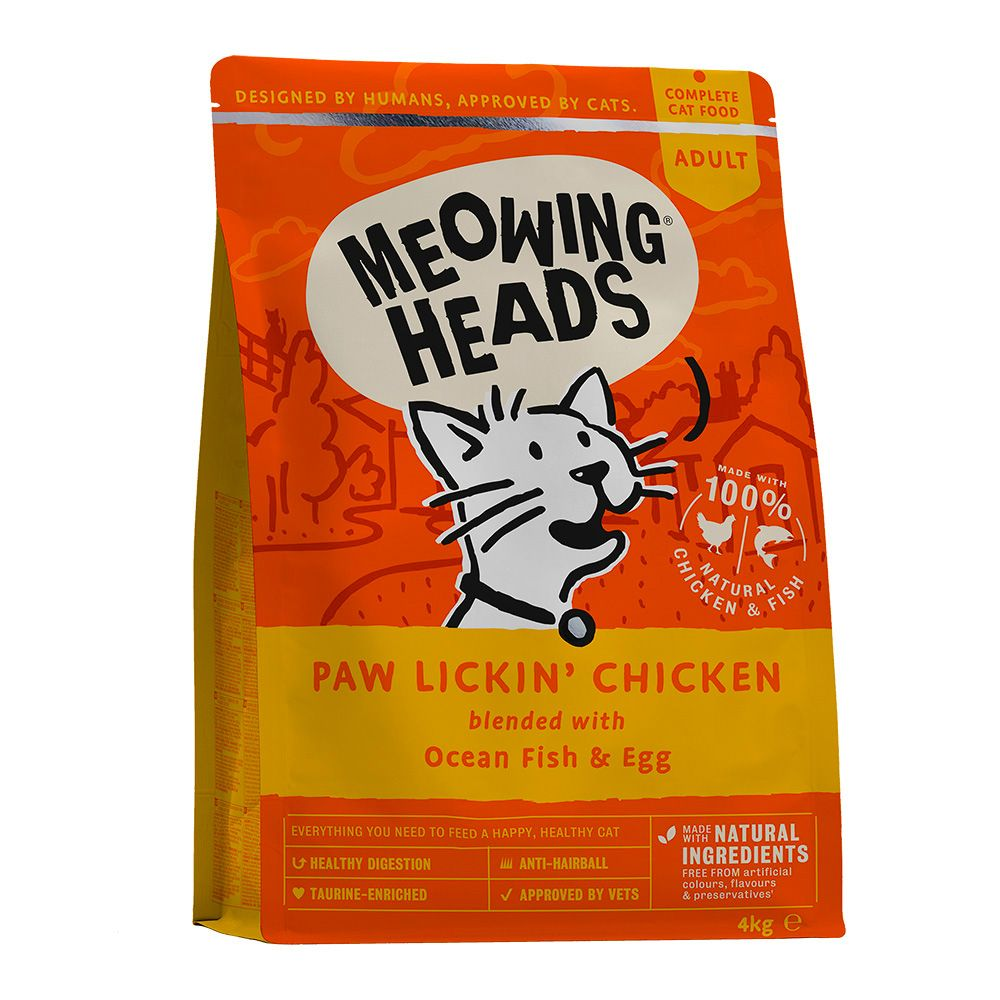 4kg Meowing Heads Dry Cat Food