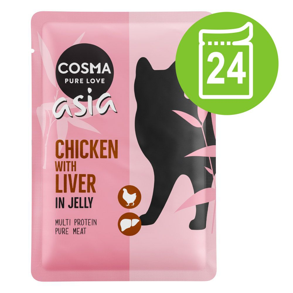 Ekonomipack: Cosma Thai/Asia portionspåsar 24 x 100 g - Tonfisk & krabbkött