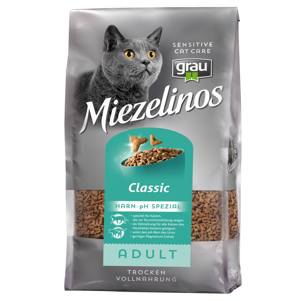 Foto Grau Miezelinos Adult Special pH-Urinario - 2 x 2,5 kg - prezzo top! Miezelinos Sensitive Cat