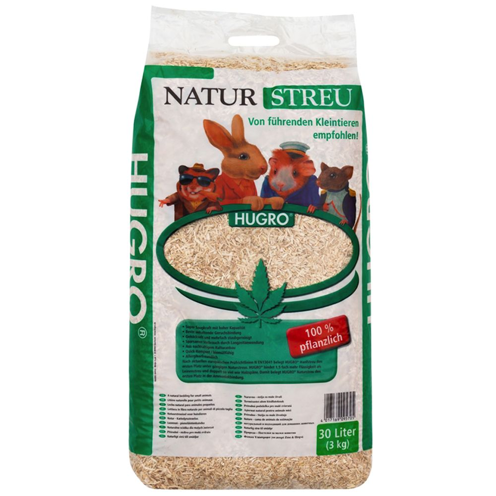 Hugro Hemp Bedding for Small Pets 2x30l