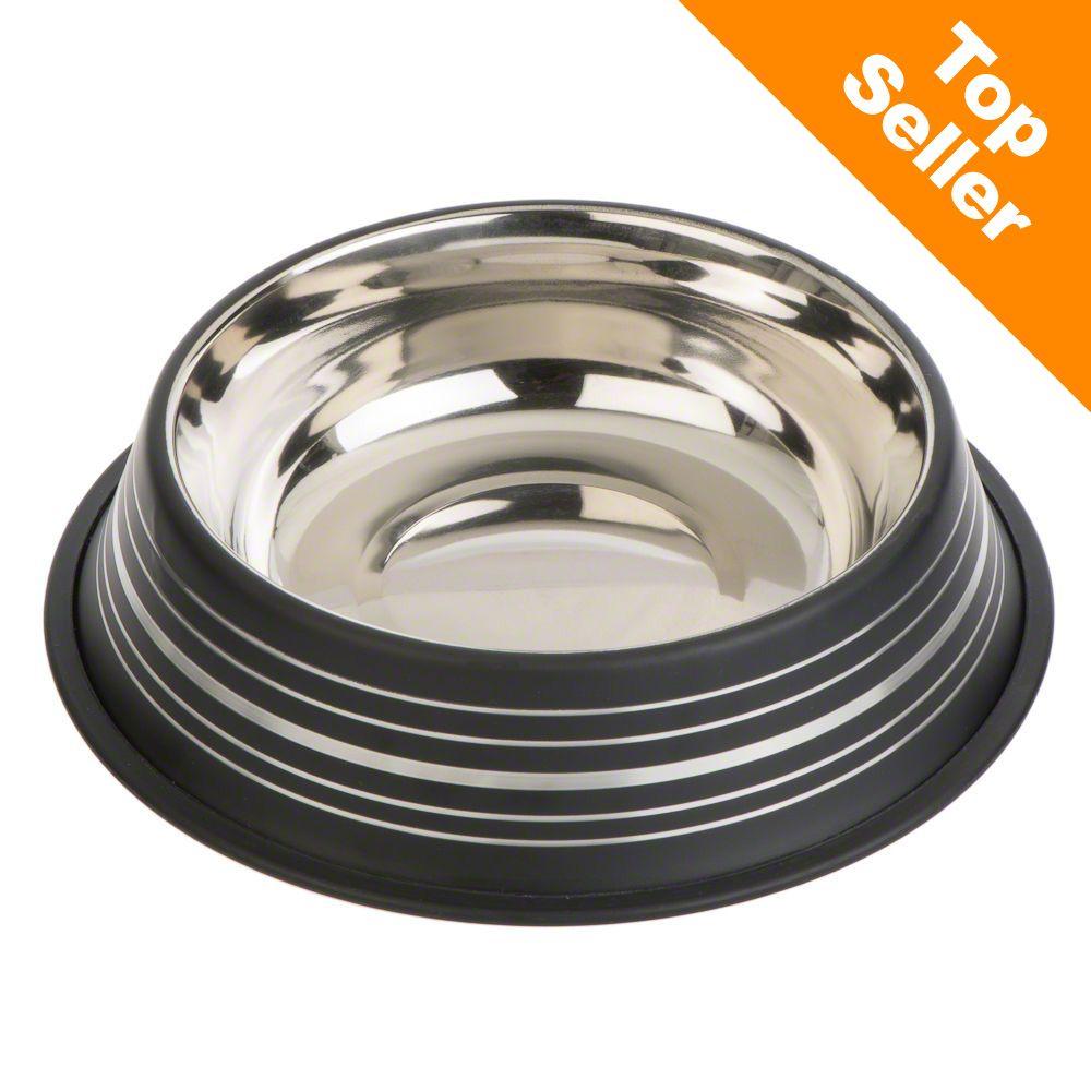 Silver Line miska ze stali szlachetnej, czarna matowa - 200 ml, Ø 15 cm
