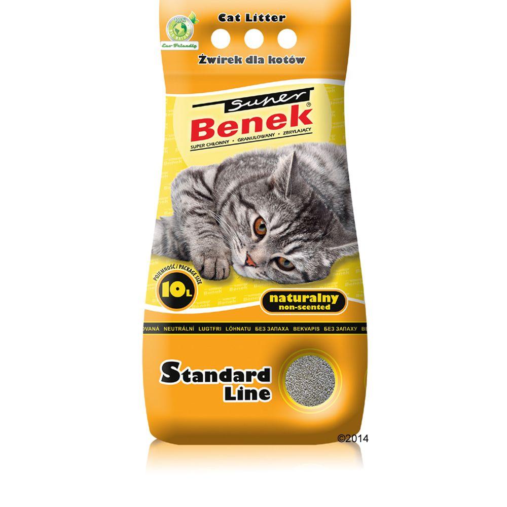Benek Super Naturalny żwirek dla kota - 10 l (ok. 8,3 kg)