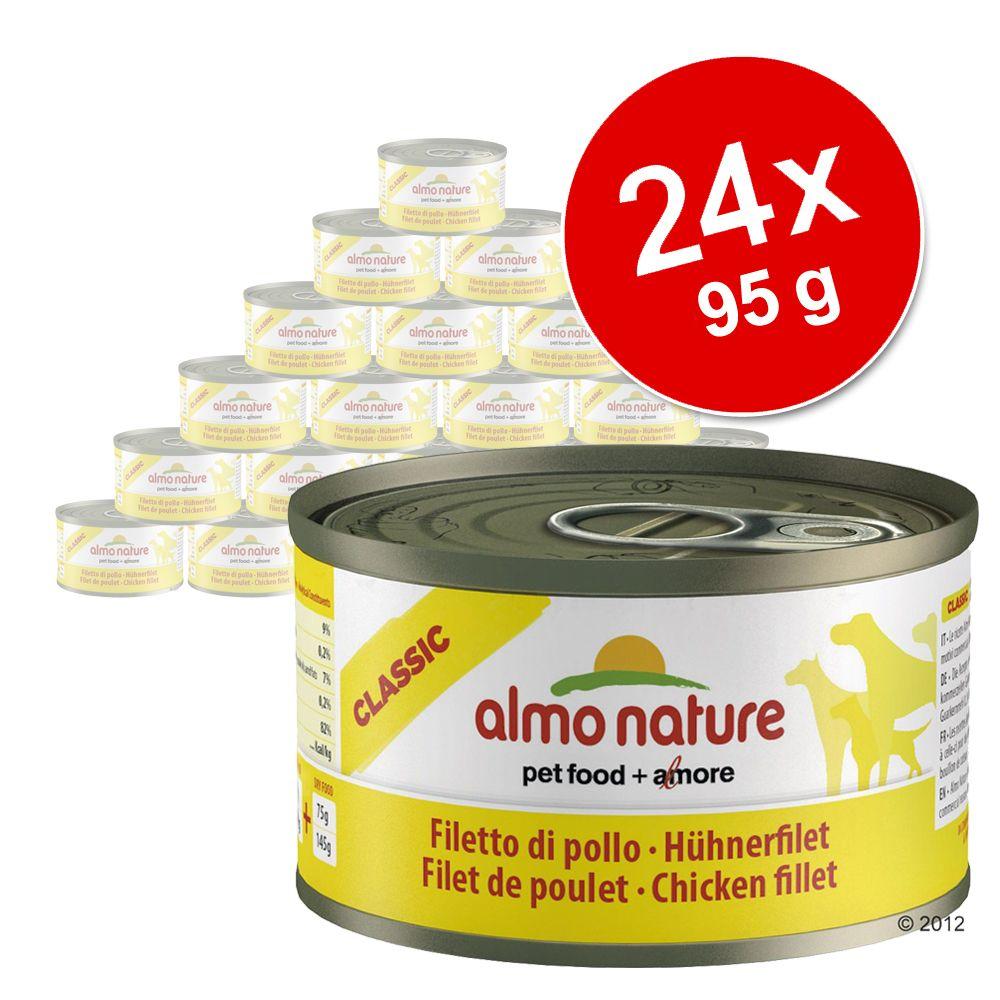 Megapakiet Almo Nature Classic, 24 x 95g - Filet z kurczaka
