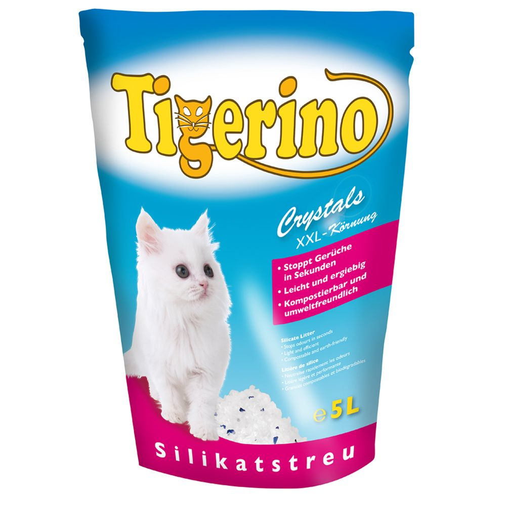 5l Tigerino Crystals Silicate XXL Cat Litter - 10% Off!* - 5 litre