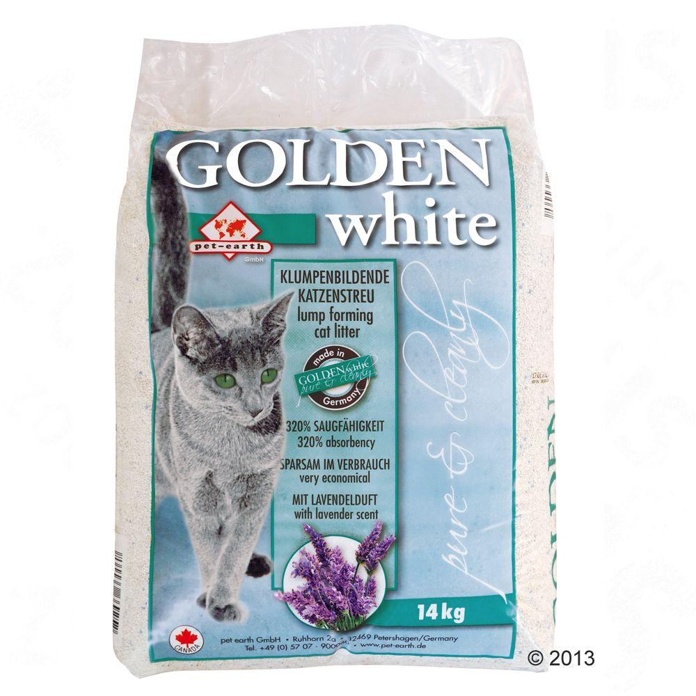 Sparpaket: 2 x 14 kg Golden White Katzenstreu