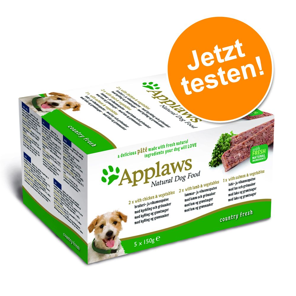 Probierpaket Applaws Dog Paté 5 x 150 g - Count...