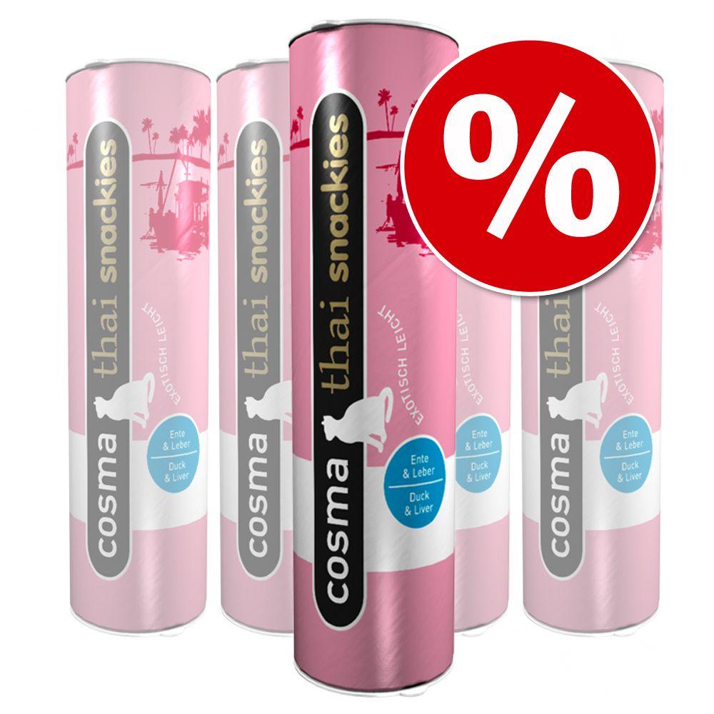 Sparpaket Cosma thai snackies 5 x 110 g - 5 x Ente & Entenleber (110 g)