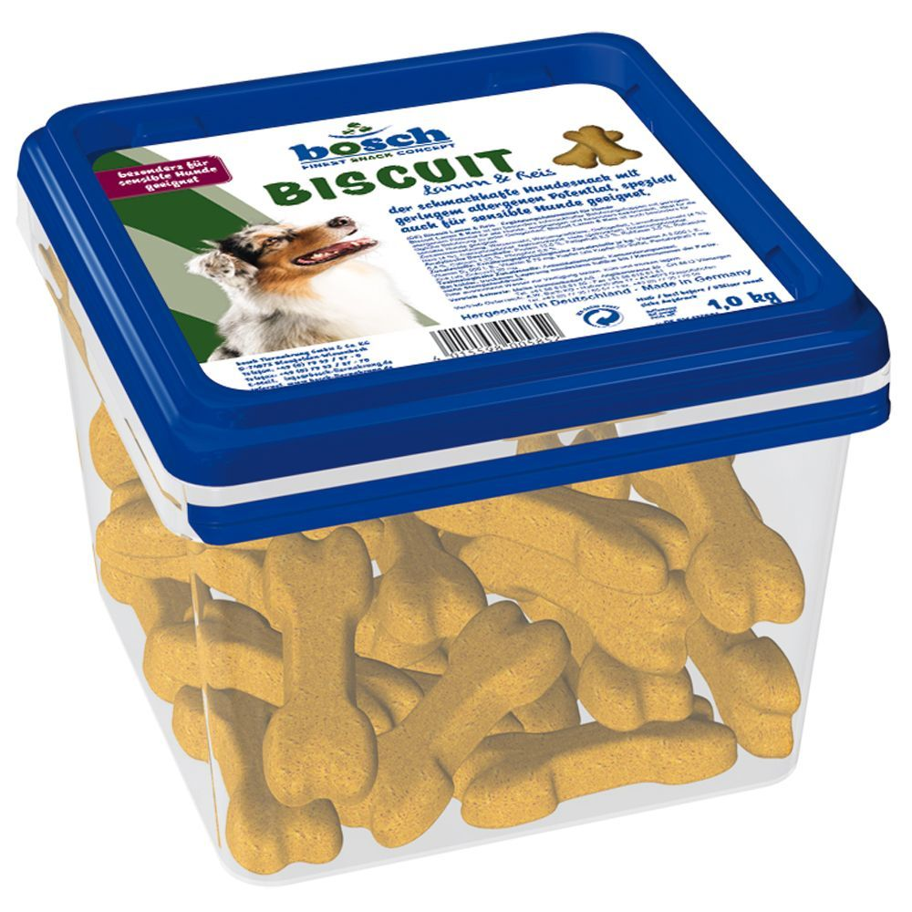Image of Bosch Biscuit Lamm & Reis Hundesnack - 1 kg