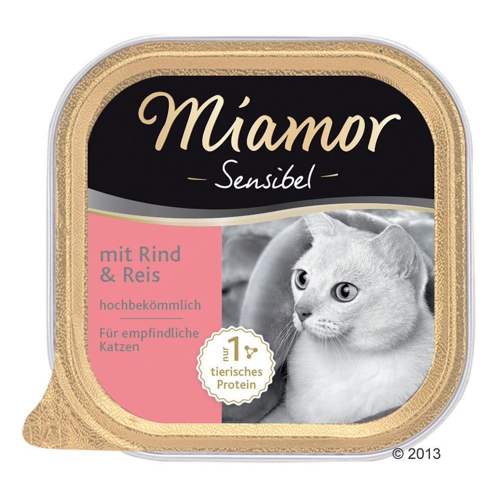Miamor Sensibel, 6 x 100 g - Kurczak z ryżem