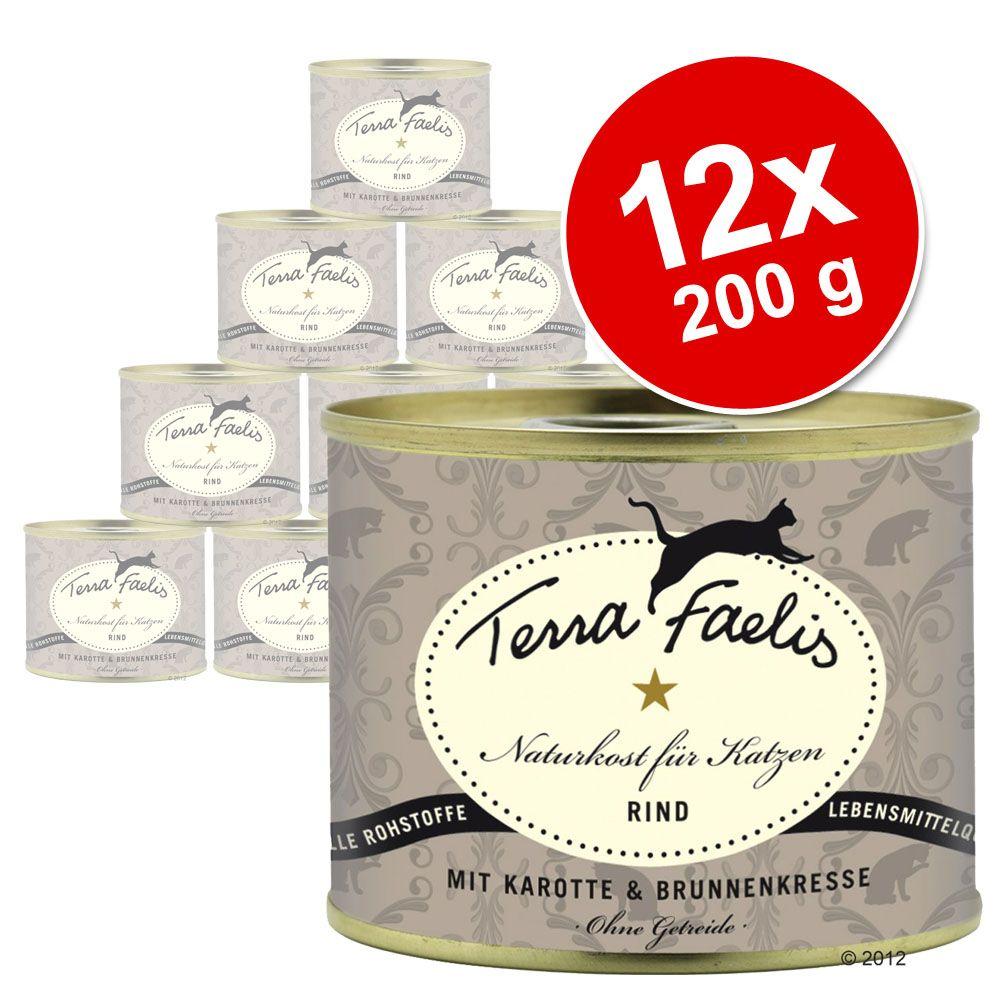Korzystny pakiet Terra Faelis Mięsne Menu, 12 x 200 g - Kurczak, dynia & kocimiętka