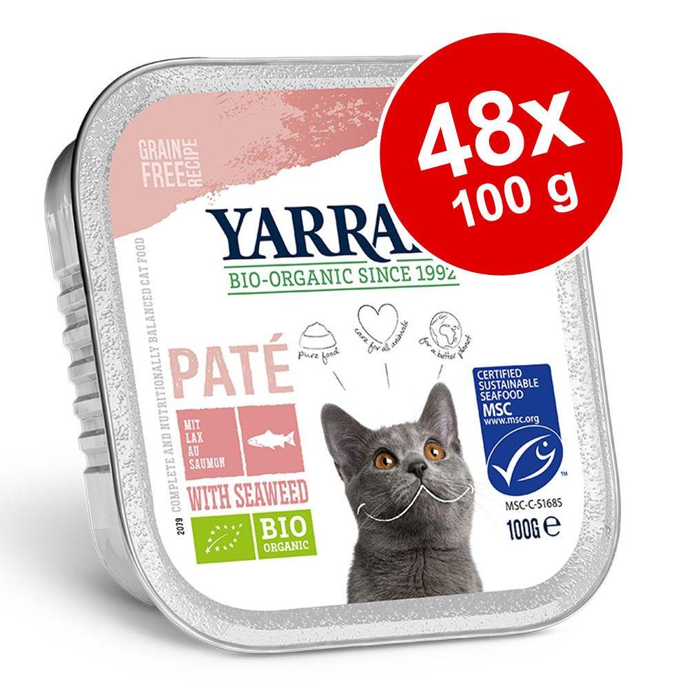 Ekonomipack: Yarrah Organic 48 x 100 g - Paté: Ekologisk lax med alger