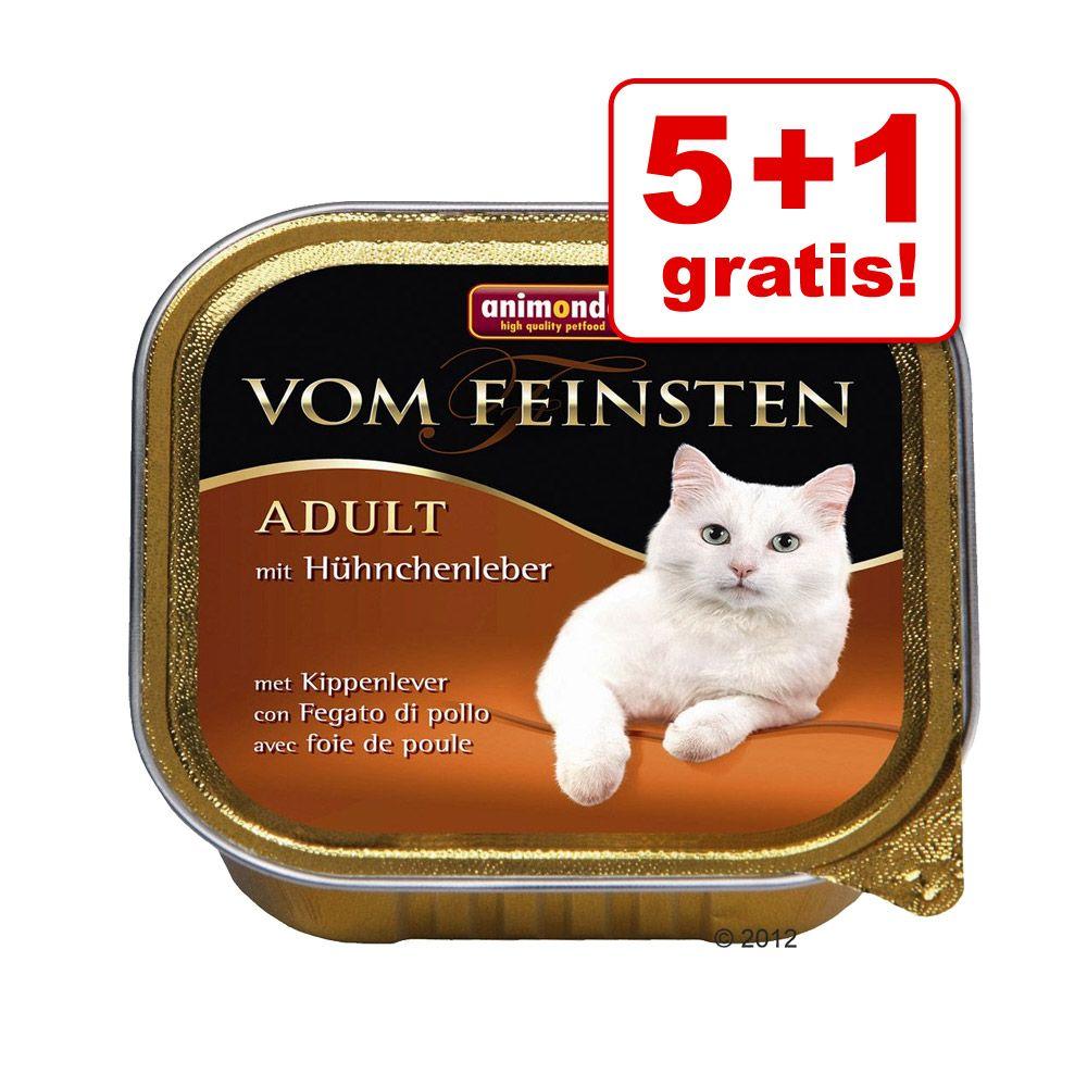 5 + 1 gratis! 6 x 100 g Animonda vom Feinsten - Adult: Multi-Fleisch-Cocktail
