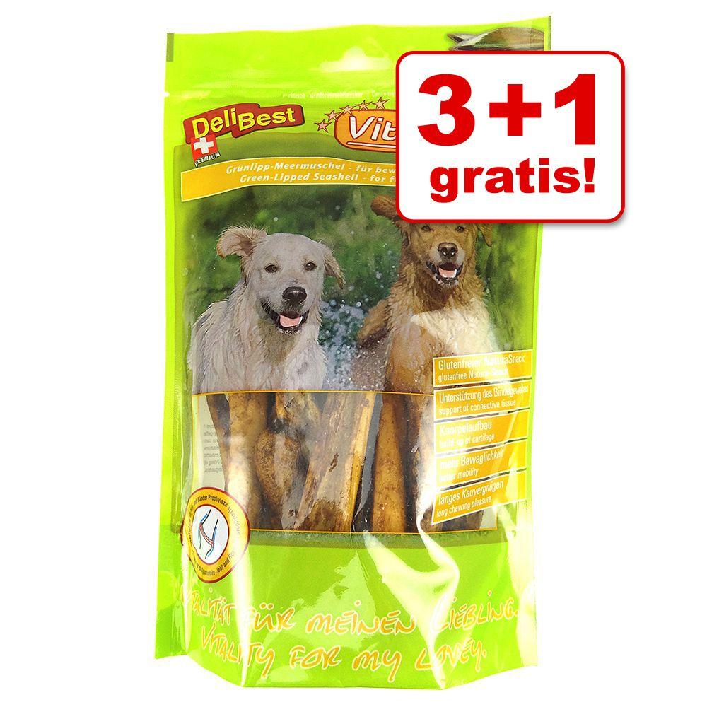 3 + 1 gratis! 4 x 200 g DeliBest Vital Natura Snack Grünlipp Meermuschel - 4 x 200 g