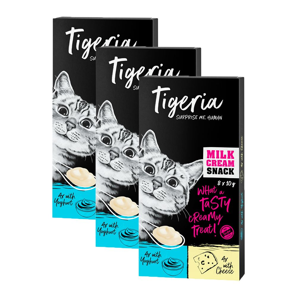 Ekonomipack: Tigeria Milk Cream Mix 24 x 10 g - Milk Cream med yoghurt + ost