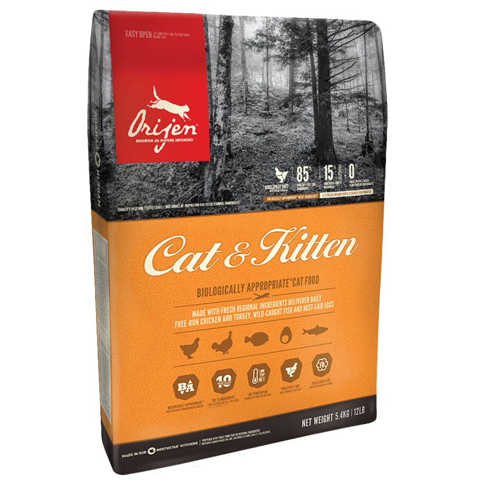 Orijen Chicken Cat & Kitten Dry Food - 5.4kg