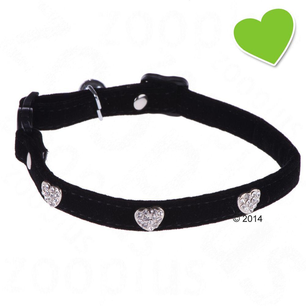 zoolove Katzenhalsband Diamond Hearts - schwarz