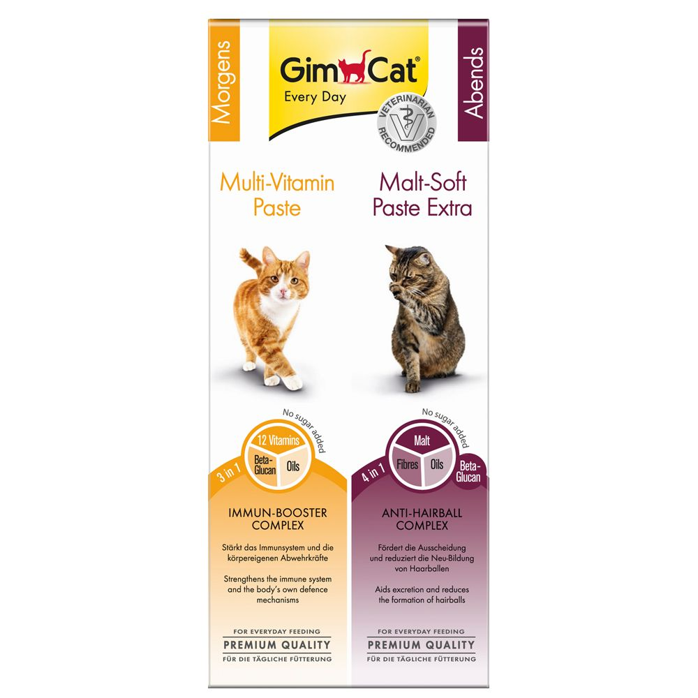 GimCat Multivitamin + Malt Paste Dual Pack