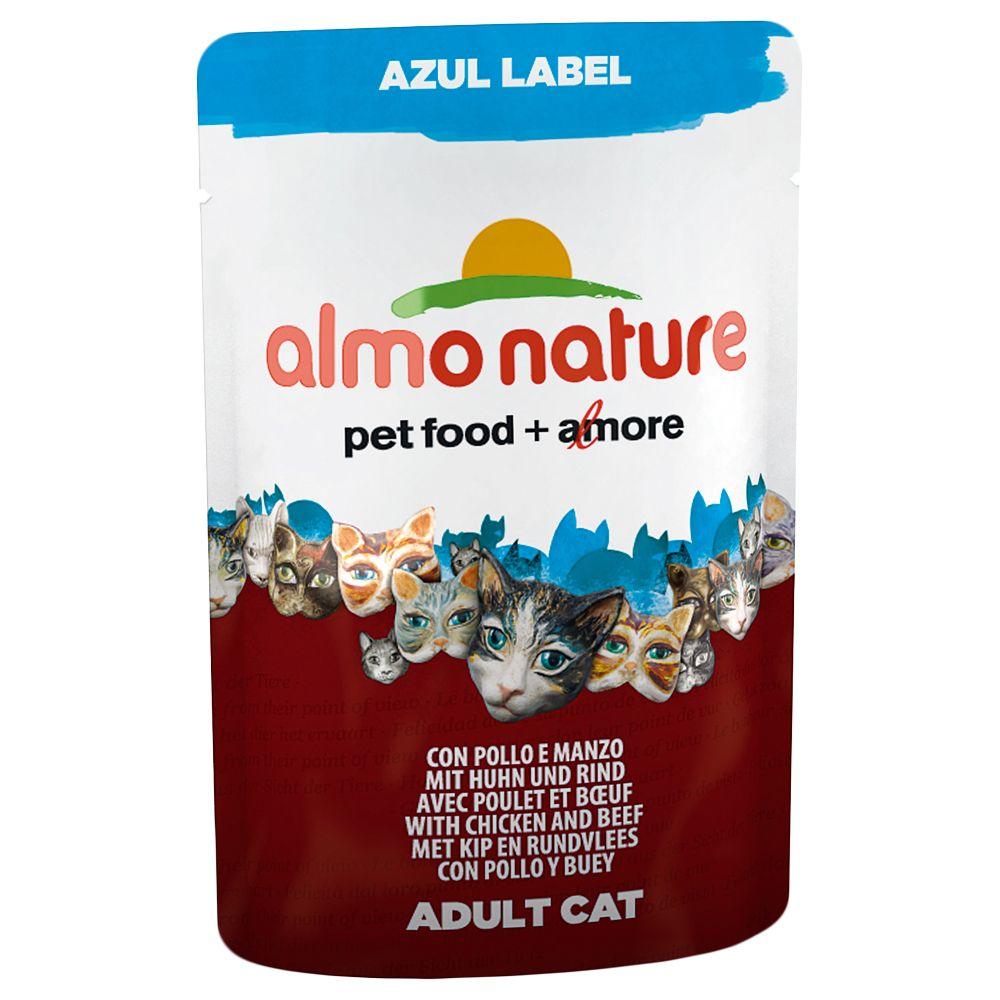 Almo Nature Azul Label, 12 x 70 g - Tuńczyk i łosoś