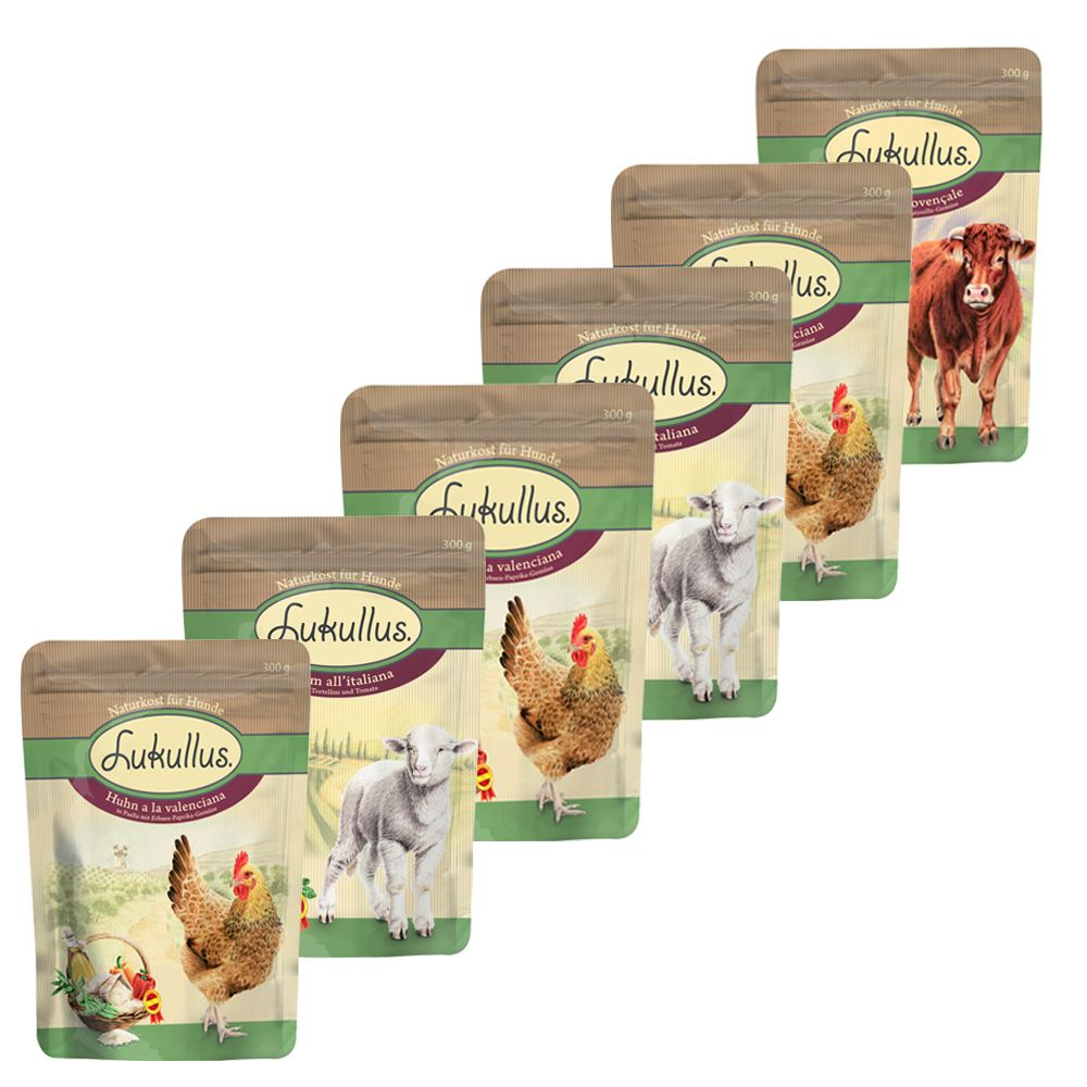 Image of Lukullus Pouches Mixed Saver Pack 24 x 300g - Classic Mixed