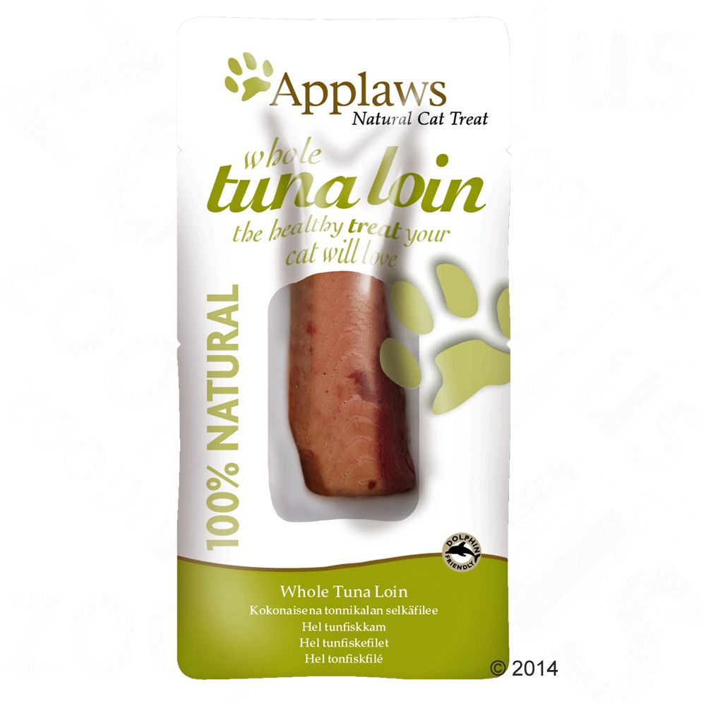 Applaws Cat Tuna Loin kattgodis - Ekonomipack: 3 x 30 g